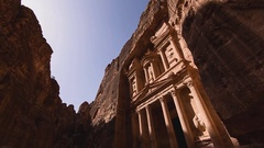 The ancient city of Petra, Jordan (time-lapse) Stock Footage