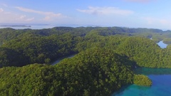 View of the Palauan island Stock Footage