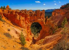 Picturesque Natural Bridge in Bryce Canyon National Park. Utah, United Stat.. Stock Photos