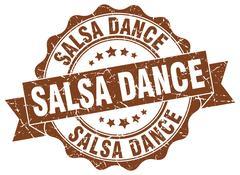 Salsa dance stamp. sign. seal Piirros
