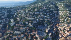 Nice France, flying over the city Stock Footage