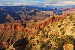 Picturesque Landscape from Grand Canyon South Rim, Arizona, United States Stock Photos
