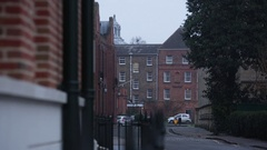 Typical streets in England: Eton town, England Stock Footage