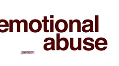 Emotional abuse animated word cloud. Stock Footage