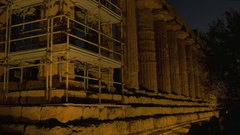 Temple Juno Night view Stock Footage