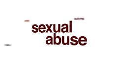 Sexual abuse animated word cloud. Stock Footage