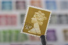 Old  British   stamp Stock Photos