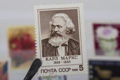 Old  Russian  stamp Stock Photos