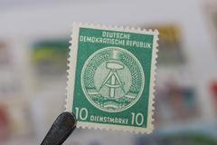 Old German Democratic Republic stamp Stock Photos