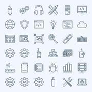 Line Programming Icons Stock Illustration