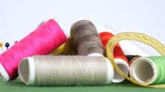 Tools and supplies for sewing Stock Footage