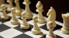 Chess white pawn moving Stock Footage