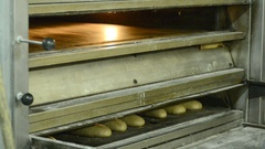 Traditional bakery bakes bread Arkistovideo
