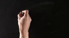 Round glasses on blackboard Stock Footage