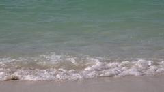 Tropical Paradise Island, Dubai, Amazing seashore, small Waves crashing sand 4K Stock Footage