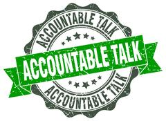 Accountable talk stamp. sign. seal Stock Illustration