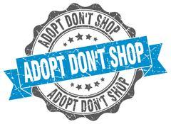 Adopt don't shop stamp. sign. seal Stock Illustration