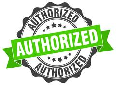 Authorized stamp. sign. seal Stock Illustration