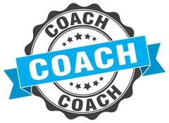Coach stamp. sign. seal Stock Illustration