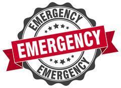 Emergency stamp. sign. seal Stock Illustration