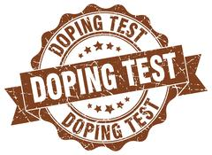 Doping test stamp. sign. seal Stock Illustration