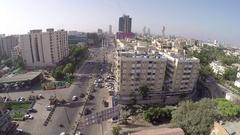 Karachi aerial shot going forward , Drone shot Stock Footage