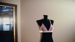 The piece of beautiful lingerie outfit Stock Footage
