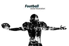 Silhouette of a football player. Rugby. American footballer Stock Illustration