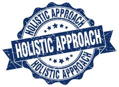 Holistic approach stamp. sign. seal Stock Illustration