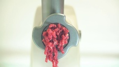 Meat Grinder Grinds The Meat. 4K Stock Footage
