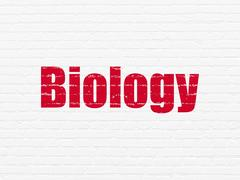 Science concept: Biology on wall background Stock Illustration