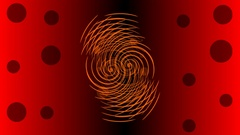 Red abstract shape rotating on red and black gradient background. Stock Footage