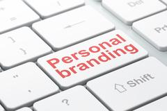 Marketing concept: Personal Branding on computer keyboard background Stock Illustration