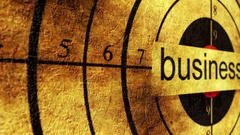 Business grunge target concept Stock Footage