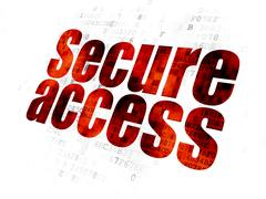 Privacy concept: Secure Access on Digital background Stock Illustration