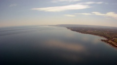 Aerial Georgian Bay Shoreline with Reflected Cloud Stock Footage