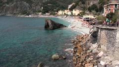 Promenade of Monterosso, Liguria Stock Footage