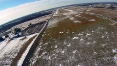 Aerial Low Pass Winter Stock Footage