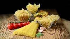 Different types of pasta Stock Footage