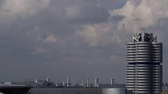 BMW Highrise in Munich Stock Footage