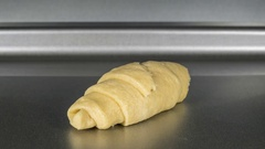Croissant Baking Macro Time Lapse Stock Footage