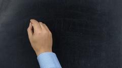 Businessman writing 2018 Goal on chalkboard or blackboard Stock Footage