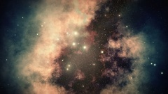 Slow Motion Multi-Colored Serene Deep Space Galaxy and Stars Background 4K Stock Footage