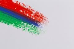 Acrylic paint colorful brush strokes Stock Photos