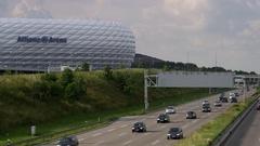 Allianz Arena Munich Stock Footage