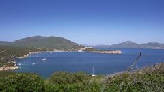 Beautiful coastline of Sardinia in UHD.  Stock Footage