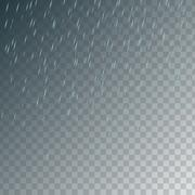 Random falling light blue rain drops Piirros