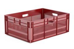 One plastic crate, 3D rendering Stock Illustration
