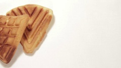 Freshly baked homemade cookies Stock Footage