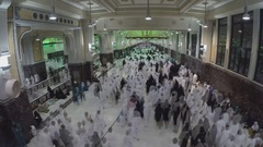 The movement of pilgrims in the mosque (time-lapse) Stock Footage